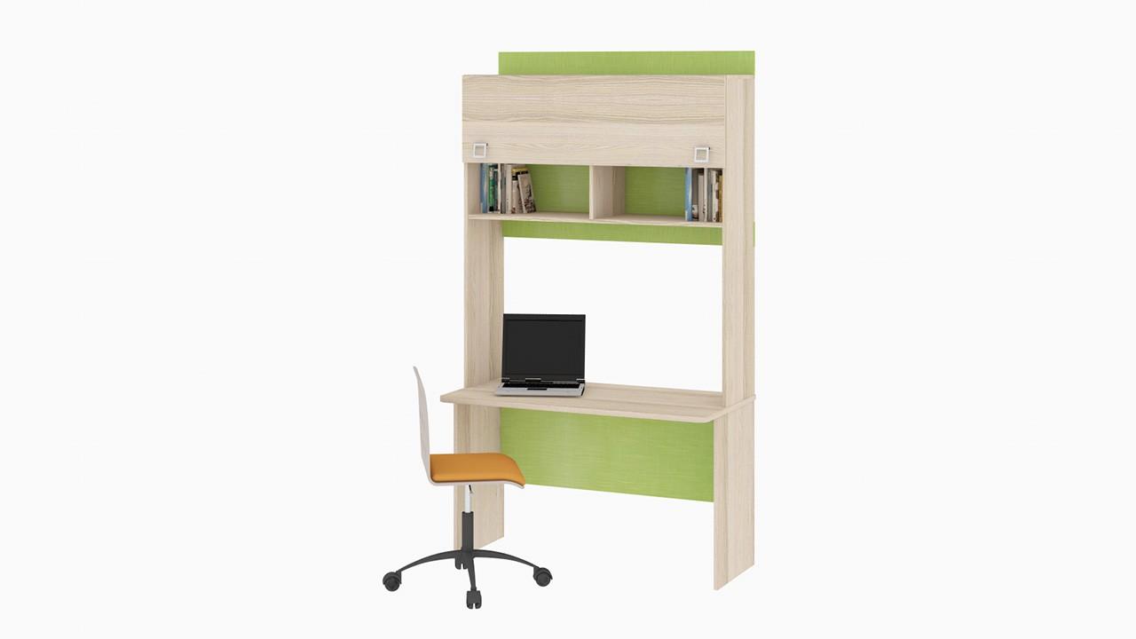 """Детский письменный стол с надстройкой """"киви"""" (комплектация 6."""