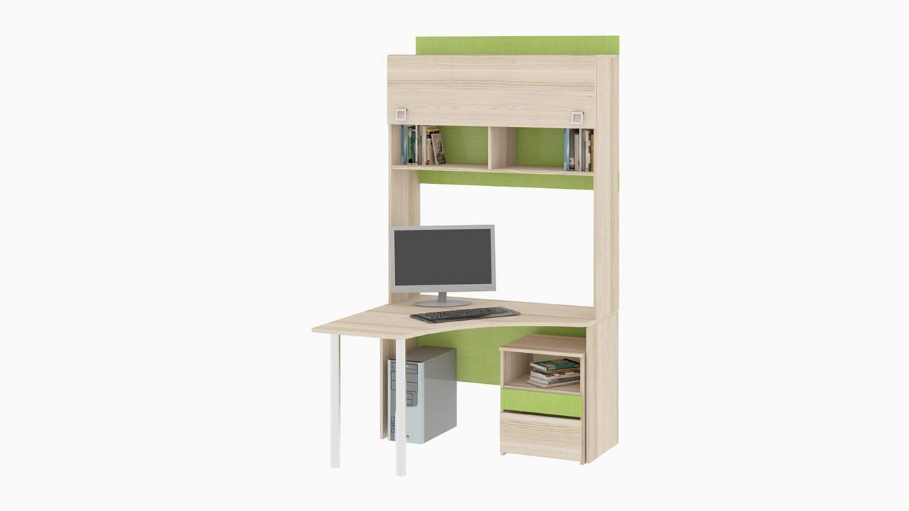 """Детский письменный угловой стол с надстройкой """"киви"""" (компле."""