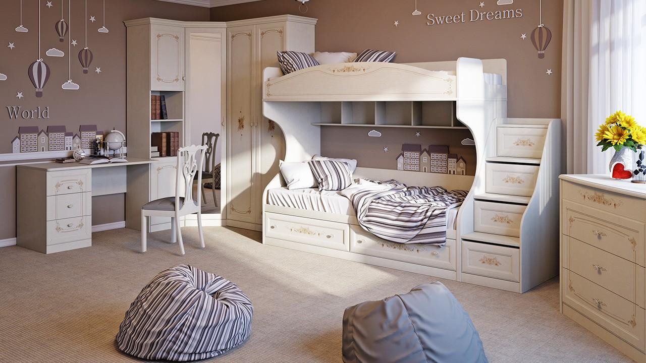 """Лючия"""" модульная мебель для детской комнаты.2 - 2m мебель."""